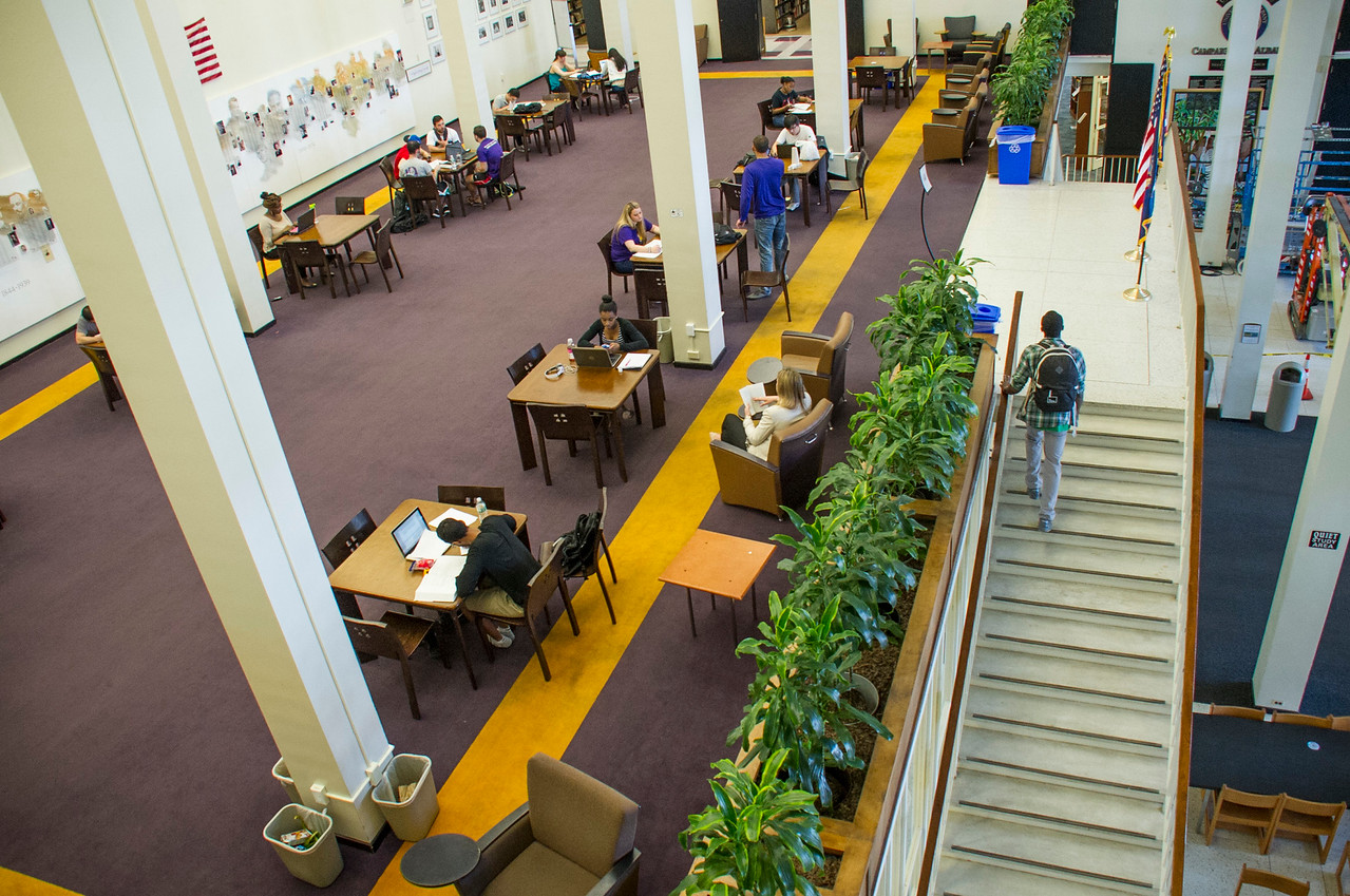 Aerial View of Library second floor