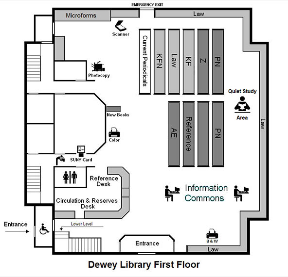 FLOOR MAP - Dewey Graduate Library - 1st Floor