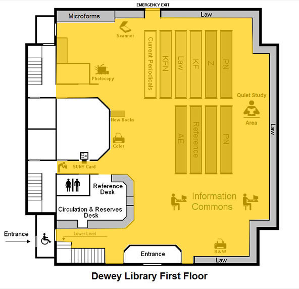 ZONE MAP - Dewey Graduate Library - 1st Floor