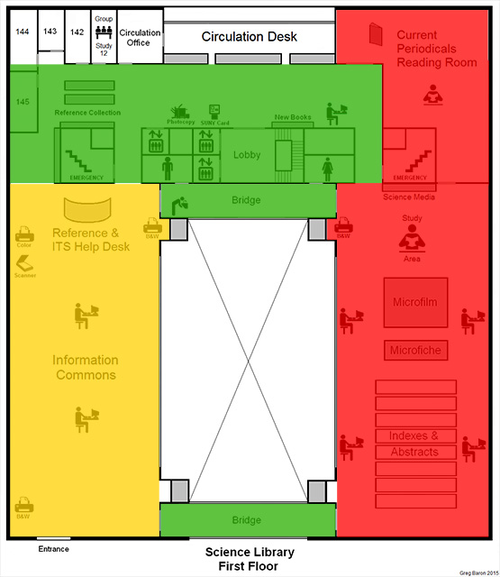 ZONE MAP - Science Library - First Floor