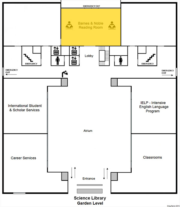 FLOOR MAP - Science Library - Garden Level