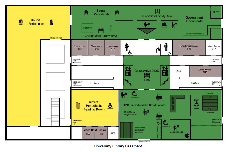 ZONE MAP - University Libraries - Lower Level