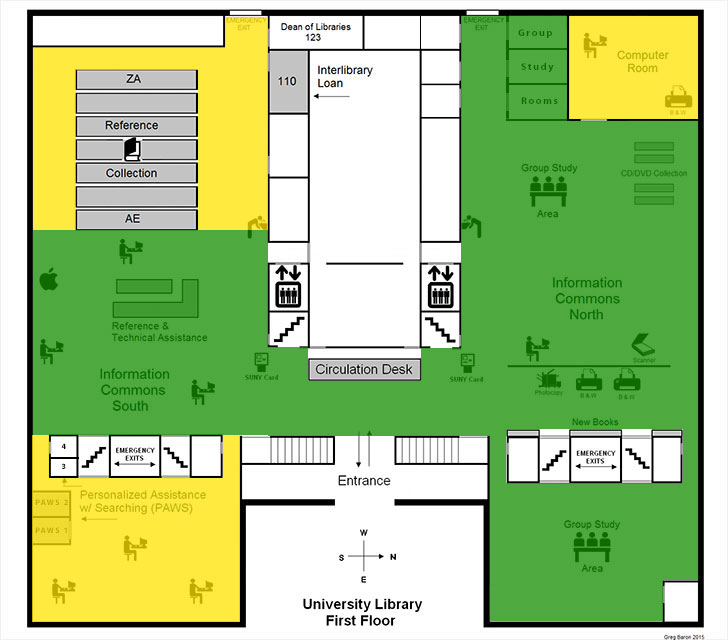 ZONE MAP - University Libraries - First Floor