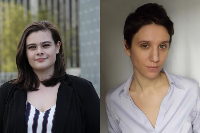 Undergraduate student Shelby Hafener and graduate student Carissa Halston are recipients of the 2020 Patricia Stocking Brown Research Award